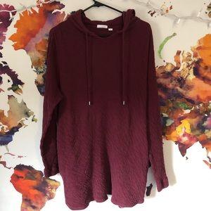 Pure Jill burgundy sweatshirt
